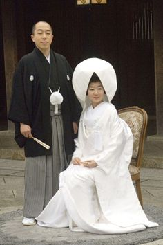 Traditional bride and groom, Japan. Photo: Rex Features