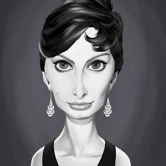 Sophia Loren art   decor   wall art   inspiration   caricatures   home decor   idea   humor   gifts