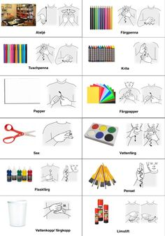 Ateljén Swedish Language, British Sign Language, Special Needs Art, Learn Swedish, Sign Language Phrases, Teacher Inspiration, Montessori Toddler, Farm Theme, Preschool Classroom