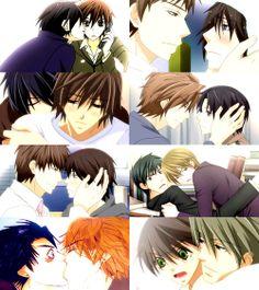 couples from Junjou Romantica and sekaiichi hatsukoi <3