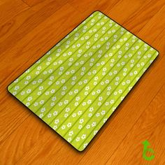New Bright Green Floral Pattern Blanket