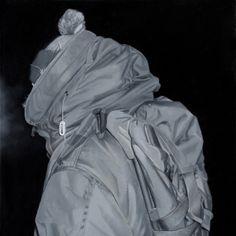 Czarny charakter, 2013, 50x50 cm, olej, autor: Bartek Buczek autor reprodukcji: Barbara Kubska