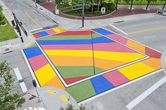 Fort Lauderdale Painted intersection Road Painting, Street Painting, Lanscape Design, Contemporary Museum, Pedestrian Crossing, Road Markings, Urban Intervention, Public Space Design, 1st Avenue