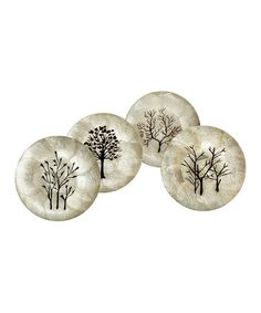 Another great find on #zulily! Capiz Eco Tree Plate Set by Bambeco, $24 !!  #zulilyfinds