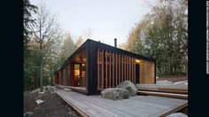 Plans To Design And Build A Container Home - Container House - Clear Lake Cottage by MJMA. - Who Else Wants Simple Step-By-Step Plans To Design And Build A Container Home From Scratch? Residential Architecture, Modern Architecture, Sustainable Architecture, Building A Container Home, Container Homes, Container Cabin, Cargo Container, Container Design, Casas Containers