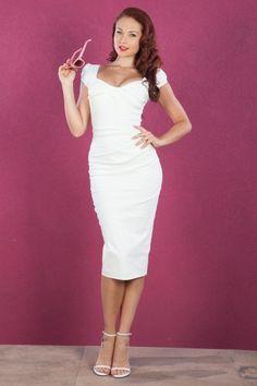 Stop Staring Billion Dollar Pencil Dress Ivory White  15212 1