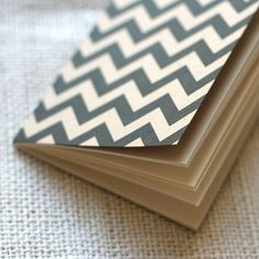 Lovely chevron striped notepad from Wit & Whistle.