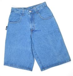 Interstate Is Mens Jean Shorts Wide Leg Hiphop Urban Skate 28 x 14 Blue New #InterstateIs #Denim