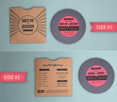 vinyl record invitations music themed wedding invitations retro wedding invitations handmade in canada by wwwempireinvitesca pinterest themed