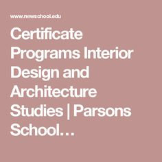 1000 images about u4eba on pinterest university of california irvine project management and for Interior design certificate programs online