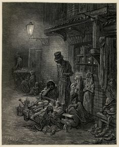 Gustave Dore: Images of Victorian London Gustave Dore, Victorian London, Victorian Life, Norman Rockwell, Rockwell Kent, London Illustration, Illustration Art, 19th Century London, 12th Century