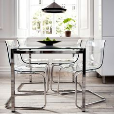 Tobias Chair ($79): Did you know you can jump on the see-through trend at IKEA? These clear chairs are an amazing AND affordable seating option for kitchen tables and living rooms (via Brit+Co.)