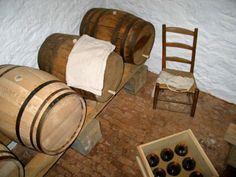 Monticello's Beer Cellar: Jefferson kept beer, often made by slave Peter Hemings, in rooms like this in Monticello's basement. Monticello Thomas Jefferson, Thomas Jefferson Home, Beer Cellar, Stone Cottages, Flooring, Chair, Charlottesville, Family History, Virginia
