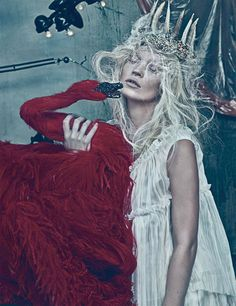 Kate Moss photographed by NY based fashion photographer Steven Klein for the March, 2012 issue of W Magazine