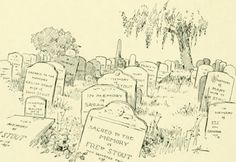 See Flickr description for more information about where this drawing of Free Stout's tombstone appears