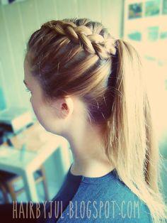 fryzury- warkocz holenderski