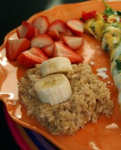 Healthy Oatmeal With Fruit