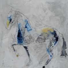 Horse painting canvas fine art  Large 36x36 inches by lizwiley
