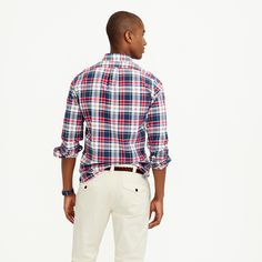 Slim Indian madras shirt in navy ink : madras shirts | J.Crew