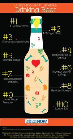 10 Health Benefits of Drinking Beer