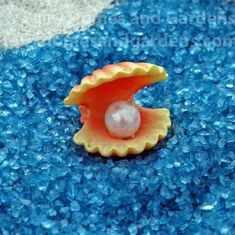 Fairy Homes and Gardens - Miniature Clam Shell with Pearl, $4.59 (https://www.fairyhomesandgardens.com/miniature-clam-shell-with-pearl/) #homeandgarden #containergardening