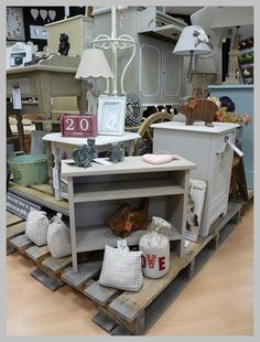 one of our pallet display 'Islands'