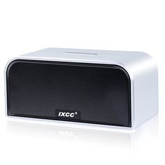 Amazon.com: Bluetooth Speaker, iXCC Portable Wireless Dual-Driver Bluetooth 4.0 Stereo Speaker with Enhanced HD Bass, Built-in Mic and Aux Input Jack - Black: Home Audio & Theater
