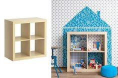 Domecek pro panenky z Ikea police (knihovny)
