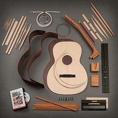 StewMac Triple-O Acoustic Guitar Kit Acoustic Guitar Kits, Fender Acoustic, Guitar Diy, Guitar Shop, Fender Guitars, Guitar Songs, Cool Guitar, Bass Guitars, Simple Guitar