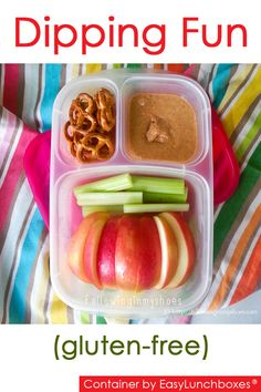 Gluten-Free dipping fun packed in @EasyLunchboxes