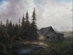 ▶ Paint with Kevin Hill - Evening Cabin - YouTube