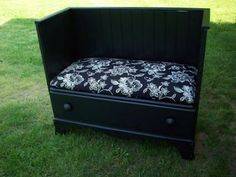 I'm so gonna do this! $10 DIY Dresser Repurpose. Make a bench out of an old dresser from a thrift shop or wherever. Re-paint it and add a cushion.