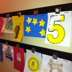 Cool way to display kids art with supplies from Michaels.