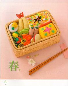 felted bento box