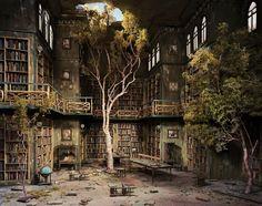 Miniature Library by artist Lori Nix.