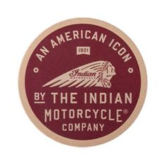 Indian Motorcycle American Icon Leather Patch: Circle patch with graphic print on genuine leather surface featuring the American Icon logo. Use this patch on your jacket, shirt, vest, and much more. Motorcycle Store, Motorcycle Companies, Motorcycle Outfit, Indian Pictures, Indian Pics, Biker Leather, Riding Gear, Arts And Crafts Supplies, Motorcycle Accessories