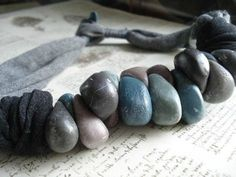 gorgeous polymer clay pebbles