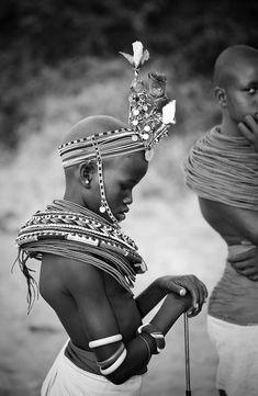 Africa | Local girl in traditional dress, Samburu, Kenya | © Robin Moore