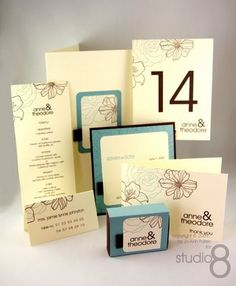 Wedding suite using Stampin Up Fith Avenue Floral