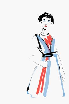 Several times a year I participate on organization of Fashion Shows in Moscow and Saint Petersburg. A couple week ago I was working on TSUM Fashion Show in Moscow. It inspired me to make some illustration of looks from last fashion weeks.
