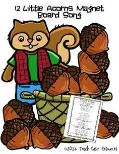 Fall Magnet board song for Preschool or Kindergarten