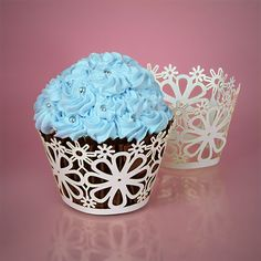 Lace Cut Paper Cupcake Wrappers- Good Silhouette project!