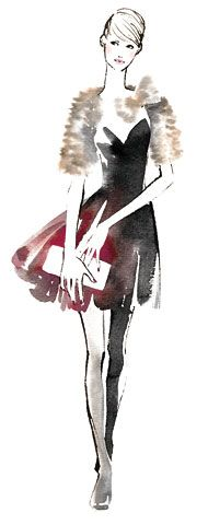 ..Watercolor Fashion Sketch