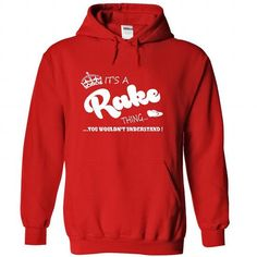 Its a Rake Thing, You Wouldnt Understand !! Name, Hoodi - #gifts for boyfriend #groomsmen gift. SATISFACTION GUARANTEED => https://www.sunfrog.com/Names/Its-a-Rake-Thing-You-Wouldnt-Understand-Name-Hoodie-t-shirt-hoodies-shirts-3684-Red-39252095-Hoodie.html?68278