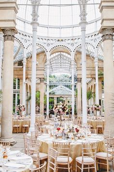 Wedding reception in the conservatory