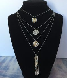 Layered Silver Plated Necklace
