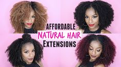 How to Style Curly Natural Hair Extensions | 5 EASY & AFFORDABLE WAYS!