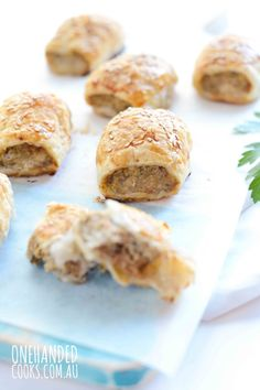 Chicken & Eggplant Sausage Rolls - One Handed Cooks Easy Toddler Meals, Healthy Meals For Kids, Healthy Eating Recipes, Baby Food Recipes, Kids Meals, Cooking Recipes, Toddler Food, Finger Foods For Kids, Baby Finger Foods