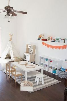 the boo and the boy: playrooms. Tent and rug