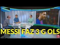Messi faz tres gols e garante a vitória do Barcelona